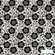 Warwick Monochrome Presley Platinum  | Curtain Fabric - Australian Made, Grey, Black - Charcoal, Contemporary, Floral, Garden, Synthetic, Washable, Domestic Use, Halo
