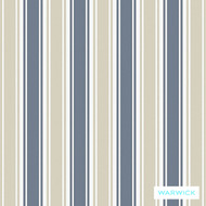 Warwick Montana Fullerton (Pnm) Denim  | Curtain & Upholstery fabric - Australian Made, Blue, Stripe, Synthetic, Traditional, Washable, Commercial Use, Halo