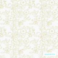 Warwick Montana (Pnm) Custard  | Curtain & Upholstery fabric - Australian Made, Gold - Yellow, Floral, Garden, Synthetic fibre, Transitional, Washable, Commercial Use, Halo
