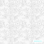 Warwick Montana (Pnm) Smoke  | Curtain & Upholstery fabric - Australian Made, Grey, Black - Charcoal, Floral, Garden, Synthetic, Transitional, Washable, Commercial Use, Halo