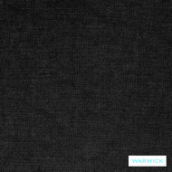 Warwick Naomi Liam Licorice  | Curtain & Upholstery fabric - Black, Plain, Synthetic fibre, Washable, Black - Charcoal, Commercial Use