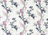 Vin_V3149/01 'Orchid' | Curtain & Upholstery fabric - Blue, Farmhouse, Fiber blend, Floral, Garden, Pink - Purple, Domestic Use, Print