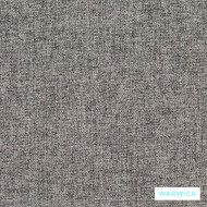 Warwick Oslo Ash  | Upholstery Fabric - Plain, Black - Charcoal, Synthetic, Washable, Commercial Use, Halo, Standard Width