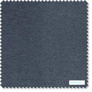 Warwick Prague Denim  | Curtain & Upholstery fabric - Blue, Plain, Synthetic, Washable, Commercial Use, Halo, Standard Width