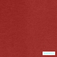 Warwick Prague Scarlet  | Curtain & Upholstery fabric - Plain, Red, Synthetic, Washable, Commercial Use, Halo, Standard Width