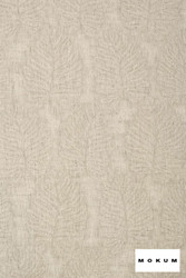 Mokum Amazonas - Linen  | Curtain & Upholstery fabric - Floral, Garden, Natural Fibre, Organic, Pattern, Transitional, Washable, Domestic Use, Dry Clean, Natural, Wide Width