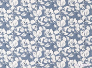 Villa Nova - Langley Chambray  | Curtain & Upholstery fabric - Blue, Farmhouse, Floral, Garden, Natural fibre, Domestic Use, Natural, Print