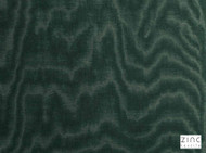 Zinc Textile - Jacopo Racing  | Curtain & Upholstery fabric - Green, Organic, Synthetic, Turquoise, Teal, Velvet, Commercial Use, Domestic Use, Moire, Print
