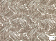 Zinc Textile - Macaroni Taupe  | Curtain & Upholstery fabric - Contemporary, Linen and Linen Look, Natural fibre, Tan, Taupe, Abstract, Domestic Use, Natural, Print
