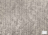 Zinc Textile - Chiringuito Mineral  | Curtain & Upholstery fabric - Beige, Green, Grey, Metallic, Fiber blend, Geometric, Small Scale, Velvet, Domestic Use, Herringbone, Metal, Print
