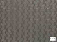 Zinc Textile - Ostro Silver Grey  | Curtain & Curtain lining fabric - Blue, Grey, Geometric, Midcentury, Synthetic, Domestic Use