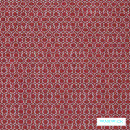 Cardinal' | Upholstery Fabric - Australian Made, Red, Diaper, Geometric, Red, Traditional, Washable, Domestic Use