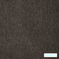 Warwick Simbra Lindeman Coal  | Upholstery Fabric - Brown, Plain, Midcentury, Synthetic fibre, Washable, Commercial Use, Domestic Use, Halo
