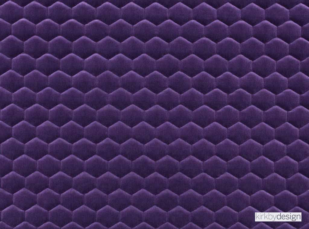 Kirkby Design Cloud Midnight Purple Upholstery Fabric Contemporary Eclectic Fibre Blends