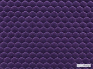 Kirkby Design - Cloud Midnight Purple  | Upholstery Fabric - Contemporary, Eclectic, Fiber blend, Geometric, Honeycomb, Pink, Purple, Velvet, Domestic Use, Embroidery, Quilted