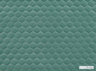 Kirkby Design - Cloud Jade  | Upholstery Fabric - Fibre Blends, Geometric, Honeycomb, Turquoise, Teal, Velvet/Faux Velvet, Domestic Use, Embroidery, Quilted, Standard Width