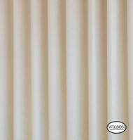 Wilson - Luxury Lining (Unc) - Luxury Lining (40m Roll)  | Curtain Lining Fabric - Beige, Plain, White, Synthetic, White