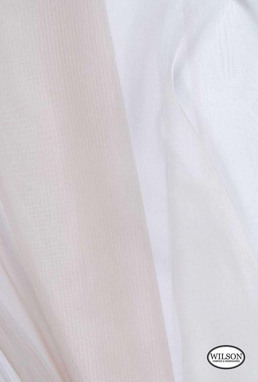 Wilson - Francesca - Chinchilla  | Upholstery Fabric - Plain, White, Synthetic, Tan, Taupe, Domestic Use, White, Wide Width
