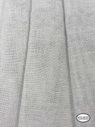 Wilson - Sabre - Silver  | Upholstery Fabric - Grey, Plain, Silver, Synthetic, Domestic Use, Textured Weave, Plain - Textured Weave, Weighted Hem
