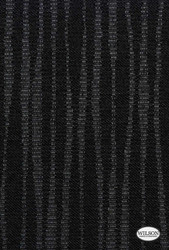 Wilson - Moma - Translucent - Black  | - Stain Repellent, Black - Charcoal, Fibre Blends, Stripe, Suitable for Blinds, Strie