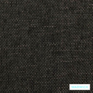 Ebony' | Upholstery Fabric - Black, Plain, Synthetic fibre, Washable, Black - Charcoal, Commercial Use, Halo