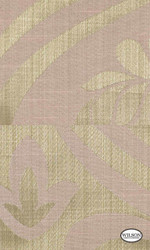 Wilson - Yvette Ii & Riley II - Damask Carnation  | Curtain Fabric - Beige, Damask, Fiber blend, Traditional