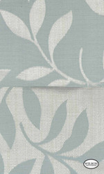 Wilson - Yvette Ii & Riley II - Leaf Duckegg  | Curtain Fabric - Grey, Fiber blend, Floral, Garden