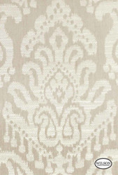 Wilson - Tulum - Linen Damask  | Curtain Fabric - Grey, Damask, Fiber blend, Traditional, Natural