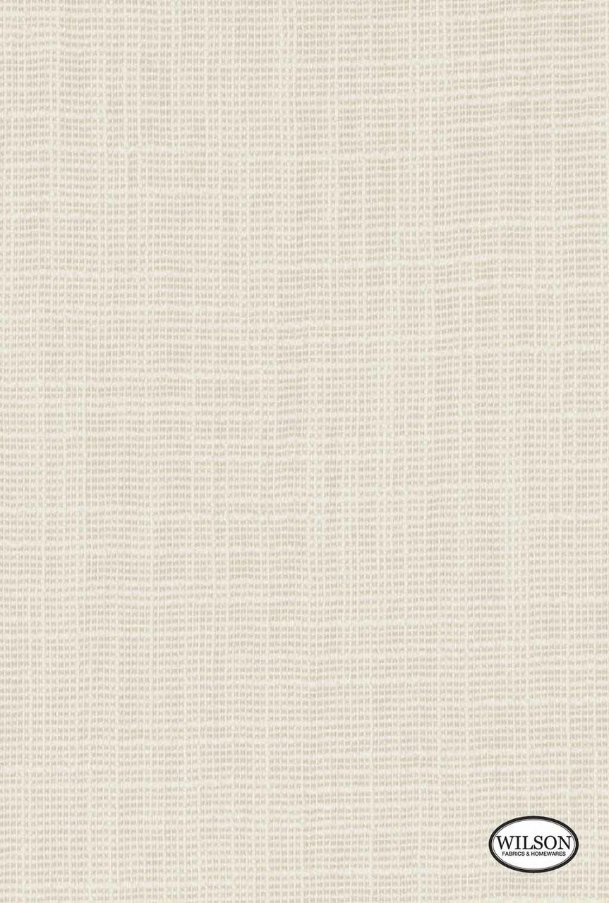 Wilson - Tuscany - Parchment  | Curtain Fabric - Plain, White, Synthetic, White, Standard Width, Strie