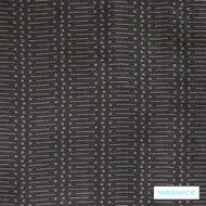 Warwick Titanium Bauer Onyx  | Curtain Fabric - Black - Charcoal, Geometric, Synthetic, Transitional, Washable, Domestic Use, Halo, Standard Width