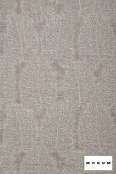 Mokum Amazonas - Zinc  | Curtain & Upholstery fabric - Grey, Floral, Garden, Natural Fibre, Organic, Pattern, Transitional, Washable, Domestic Use, Dry Clean, Natural
