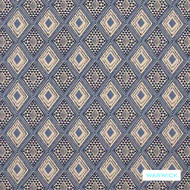 Warwick - Aditi Indigo  | Upholstery Fabric - Blue, Grey, Geometric, Kilim, Commercial Use, Diamond - Harlequin, Railroaded