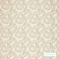 Warwick - Corvus Nougat  | Curtain Fabric - Beige, Floral, Garden, Transitional, Washable, Domestic Use, Railroaded, Standard Width