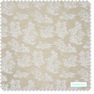 Warwick - Toinette Snow - FTO71SNOW  | Upholstery Fabric - Australian Made, Brown, Tan, Taupe, Toile, Traditional, Transitional, Domestic Use, Figurative, Railroaded