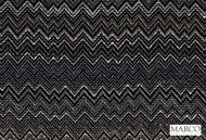 Marco Fabrics - Ziggy Graphite  | Curtain & Upholstery fabric - Black - Charcoal, Mediterranean, Moroccan, Pattern, Chevron, Zig Zag, Domestic Use, Railroaded, Flame Stitch