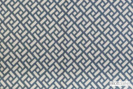 Elliott Clarke - Chinese Fret - Pacific  | Curtain & Upholstery fabric - Blue, Geometric, Outdoor Use, Synthetic, Diamond - Harlequin, Domestic Use, Dry Clean, Standard Width