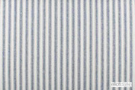 Elliott Clarke - Millbrook - Navy  | Curtain & Upholstery fabric - Blue, White, Natural Fibre, Stripe, Traditional, Domestic Use, Dry Clean, Natural, White, Standard Width