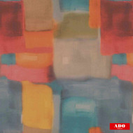 Ado - Blur - 8110-543  | Curtain Fabric - Blue, Gold,  Yellow, Red, Multi-Coloured, Synthetic, Abstract, Domestic Use, Railroaded