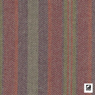 Andrew Martin - Corcovado - Multi  | Curtain & Upholstery fabric - Red, Natural Fibre, Pink, Purple, Stripe, Domestic Use, Herringbone, Natural, Standard Width
