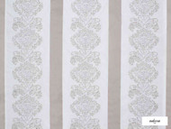 Ardecora - Galleria - 15386.992  | Curtain Fabric - Brown, White, Damask, Fibre Blends, Stripe, Traditional, Domestic Use, White, Standard Width