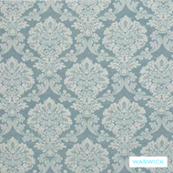 Egg' | Curtain & Upholstery fabric - Blue, Damask, Fiber blend, Traditional, Washable, Domestic Use