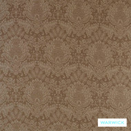 Caramel' | Curtain & Upholstery fabric - Brown, Damask, Fiber blend, Floral, Garden, Traditional, Washable, Tan - Taupe, Commercial Use