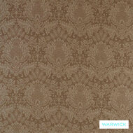 Warwick Wool Library Islay Caramel  | Curtain & Upholstery fabric - Brown, Damask, Fiber blend, Floral, Garden, Tan, Taupe, Traditional, Washable, Commercial Use
