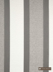 James Dunlop Osaka Ww - Willow  | Curtain Fabric - Grey, Silver, Natural fibre, Stripe, Traditional, Washable, Domestic Use, Dry Clean, Natural