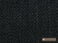 James Dunlop Padova - Nero  | Upholstery Fabric - Fire Retardant, Black - Charcoal, Synthetic, Washable, Commercial Use, Dry Clean
