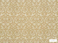 Hodsoll McKenzie - Fleming Damask - 21125.895  | Curtain Fabric - Beige, Gold,  Yellow, Damask, Fibre Blends, Traditional, Domestic Use, Standard Width, Rococo