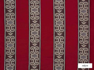Ardecora - Duomo - 15376.387  | Curtain Fabric - Red, Fibre Blends, Stripe, Traditional, Domestic Use, Standard Width