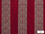 Ardecora - Meda - 15370.387  | Curtain Fabric - Red, Damask, Fibre Blends, Stripe, Traditional, Domestic Use, Standard Width, Rococo