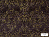 Ardecora - Novecento - 15383.196  | Upholstery Fabric - Brown, Black - Charcoal, Damask, Fibre Blends, Pink, Purple, Traditional, Domestic Use, Standard Width, Rococo
