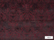 Ardecora - Novecento - 15383.387  | Upholstery Fabric - Red, Damask, Fibre Blends, Floral, Garden, Domestic Use, Standard Width